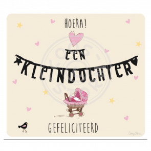 Greeting Card 'Hoera een Kleindochter'  by Coos Storm
