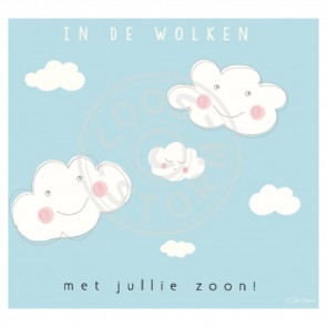 Greeting Card 'In de Wolken Zoon' by Coos Storm