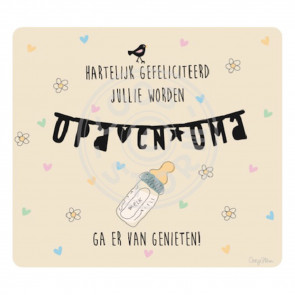Greeting Card 'Jullie worden Opa en Oma' by Coos Storm
