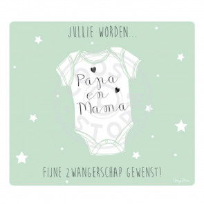 Greeting Card 'Jullie worden Papa en Mama'  by Coos Storm