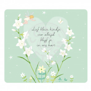 Greeting Card 'Lief Klein Kindje' Condoleance by Coos Storm
