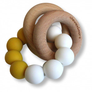 Basic Rattle  Ocher / White