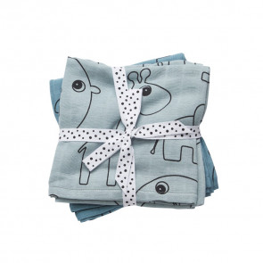 Done by Deer Swaddle 2-pack Contour Blue