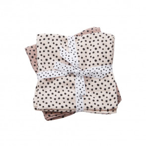 Burp Cloth 2-pack Happy Dots Powder