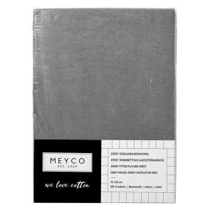 Meyco Jersey Sheet Playpen Mattress Grey 75x95 cm