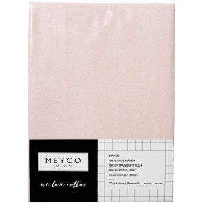 Meyco Jersey Sheets 2-Pack Light Pink 40x80/90 cm