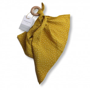 Chewie Cloth Yellow Ochre Dot