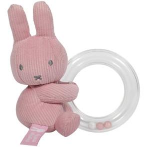 Miffy Ring Rattle Pink Baby Rib