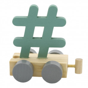 C-Toys Train Letter Hashstag