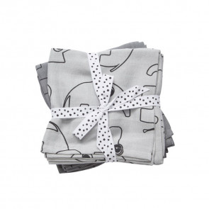 Done by Deer Swaddle 2-pack Contour Grey