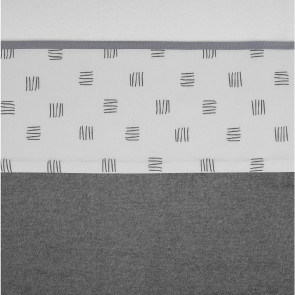 Meyco Crib Sheet Block Stripe Grey
