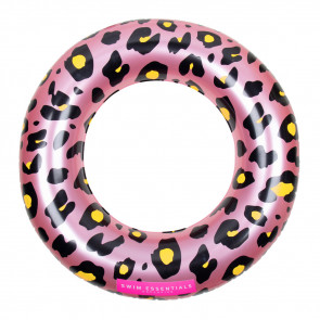 Swim Essentials Pink Leopard Swim Ring