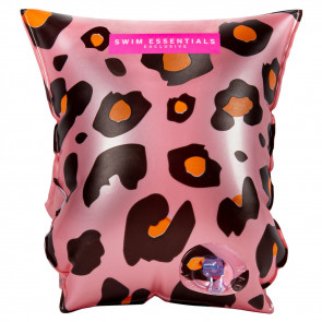 Swim Essentials Armbands Pink Leopard 0 to 2 Years