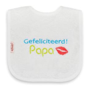 Funnies Bib Gefeliciteerd Papa