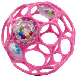 OBall Rattle Pink 10 cm