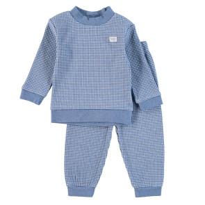 Feetje Childrens Pyjamas Waffle Blue Melange