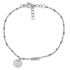 Proud MaMa Bracelet Silver Feather