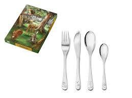 Cutlery Set 4-piece Forest Animals