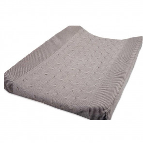 Baby's Only Changing Pad Cover Cable Uni Taupe