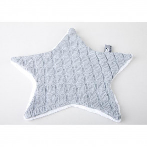 Baby's Only Cuddle Cloth Cable Teddy Star Light Grey