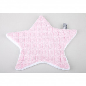Baby's Only Cuddle Cloth Cable Teddy Star Pink