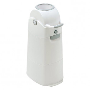 Diaper Champ Medium Nappy Bucket White/Silver