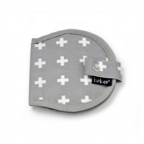 KipKep Napper Breast Pads Pouch Crossy Grey