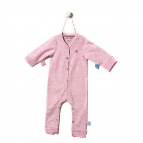 Snoozebaby Suit Long Sleeve Pink Melange