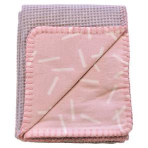 Lodger Dreamer  Blanket Honeycomb Blush (110 x 140 cm)