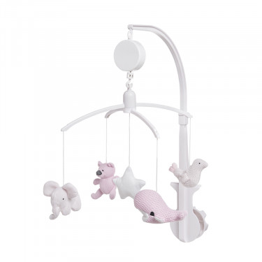 Baby's Only Musikmobil Classic Rosa/Baby Rosa Rosa/Weiss