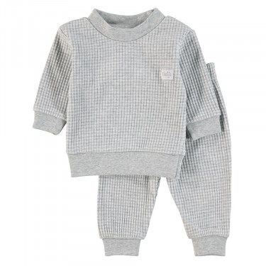 Feetje Kinder Pyjama Wafel Grey Melange