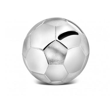 Zilverstad Geld-Box Fußball Versilbert