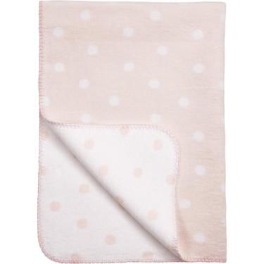Meyco Babydecke Punkt Rosa/Weiß