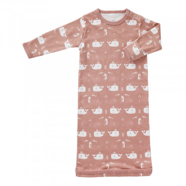 Fresk Sleeping Bag Whale Mellow Rose 0-6 months