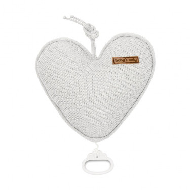 Baby's Only Music Box Heart Classic Light Grey