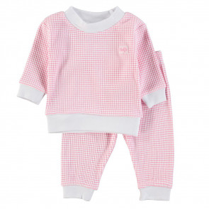 Feetje Kinder Pyjama Wafel Pink