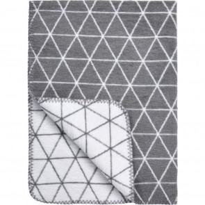 Meyco Bettdecke Triangle Grey - White 120x150