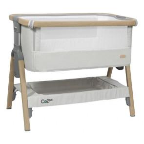 Tutti bambini Cozee Bedside Crib Oak Silver
