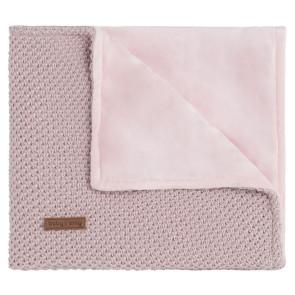 Baby's Only Babydecke weich Sparkle silber-pink melange