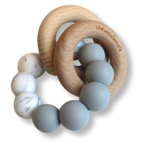 Basic Rattle Hellgrau / Marmor