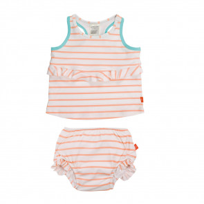 Laessig 2pc Tankini Set Girls Sailor Peach