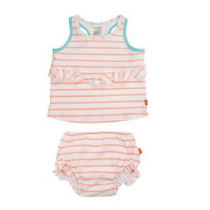 Laessig 2pc Tankini Set Girls Sailor Peach
