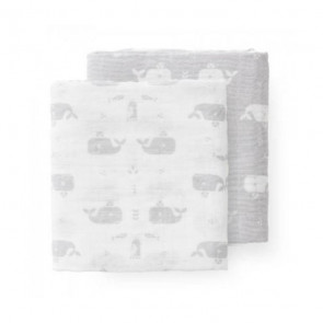 Fresk Swaddle set 120x120 Whale Dawn Grey (2 Stücke)