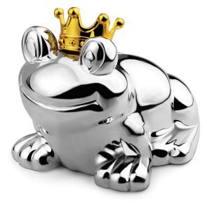 Zilverstad Geld-Box Frosch Versilbert