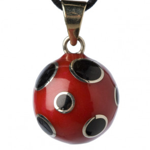 Babylonia Bola Red with Black Bubbles
