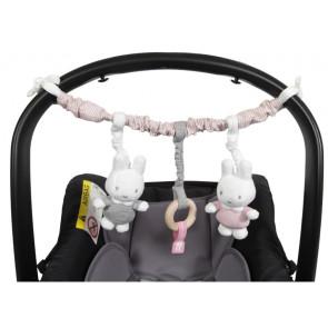 Miffy Car Seat Toy Pink Baby Rib