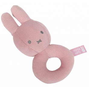 Miffy Rattle Pink Baby Rib