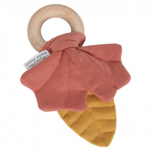 Little Dutch Wooden Ring Leaf Yellow/Red