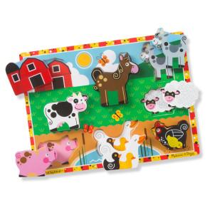 Melissa & Doug Wooden Puzzle Farm Animals