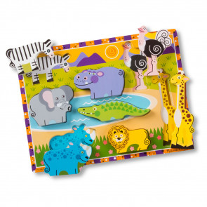 Melissa & Doug Wooden Puzzle Safari Animals